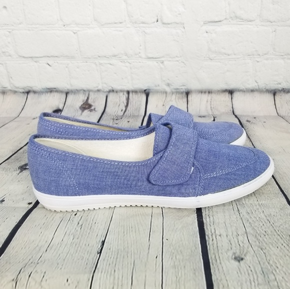 Euc Grasshoppers Light Blue With White Trim Slip On Shoes Womens 10 Comfortable! Clothing, Shoes & Accessories Women's Shoes